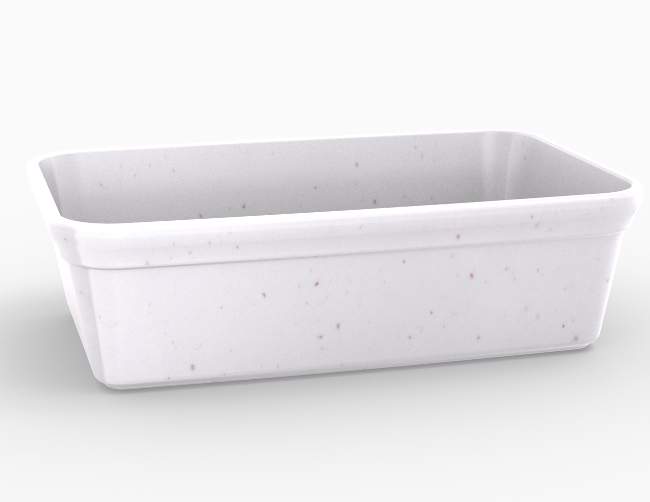 Terrine blanche tachetée 3300 cm3