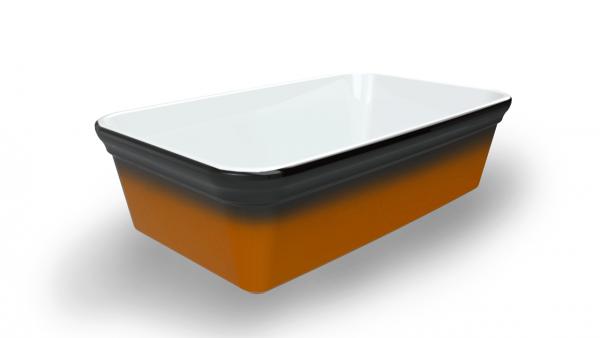 Terrine blanche tachetée/ambrée 3300 cm3