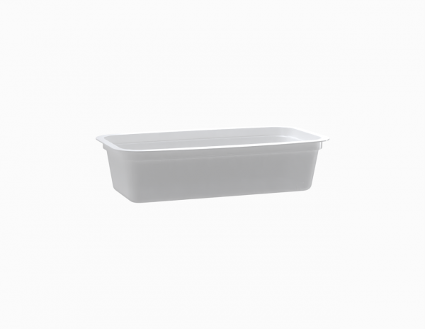 Barquette tartinable operculable blanche 180 cm3