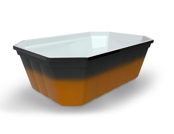 Terrine toquière operculable blanche/ambrée imitation faience 290 cm3