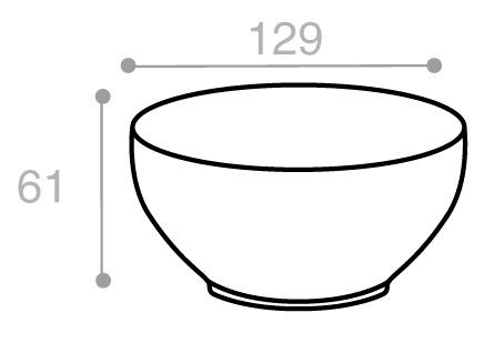 Schéma Terrine crème tachetée 550 cm3