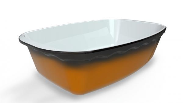Terrine crème tachetée/ambrée 1800 cm3