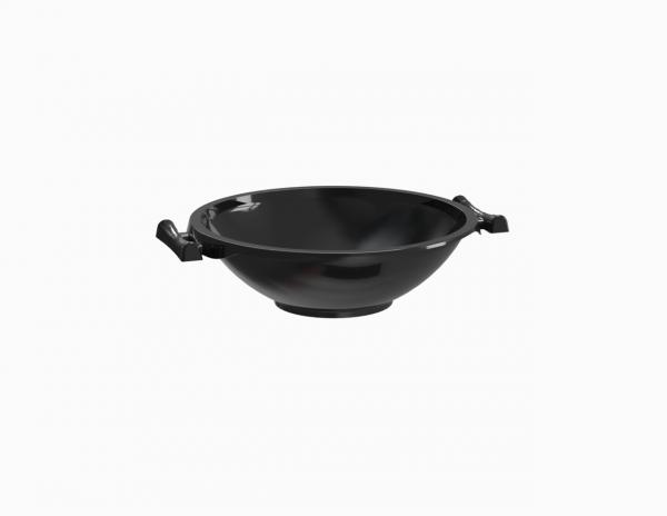 Barquette operculable noire type wok 550 cm3